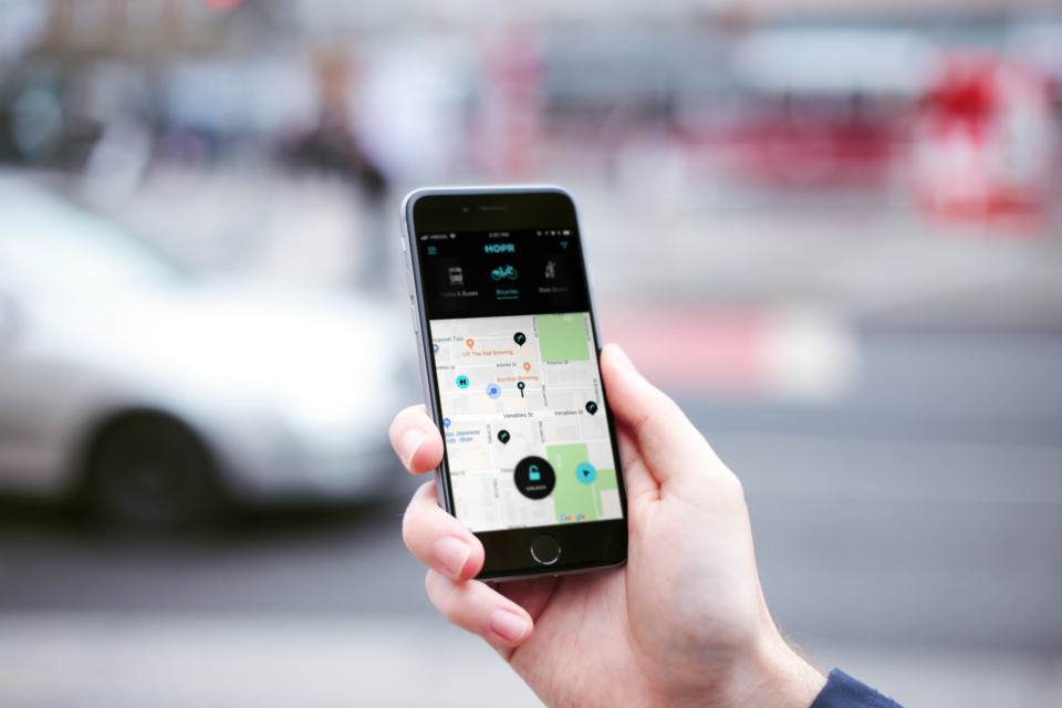 HOPR mobility app Bike share car hailing