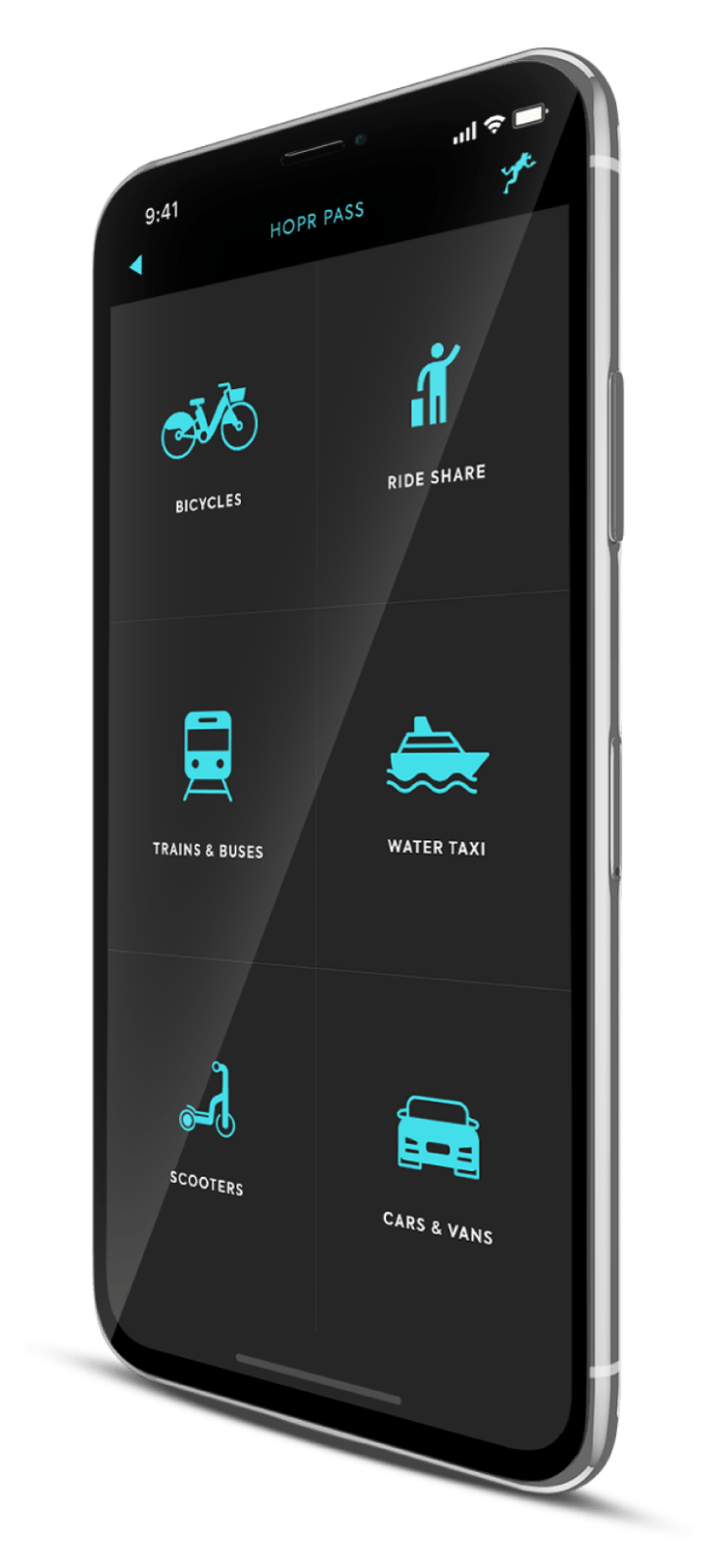 Access Bike Share, Scooter Share, Ride Share, and Public Transit with the HOPR Transit App