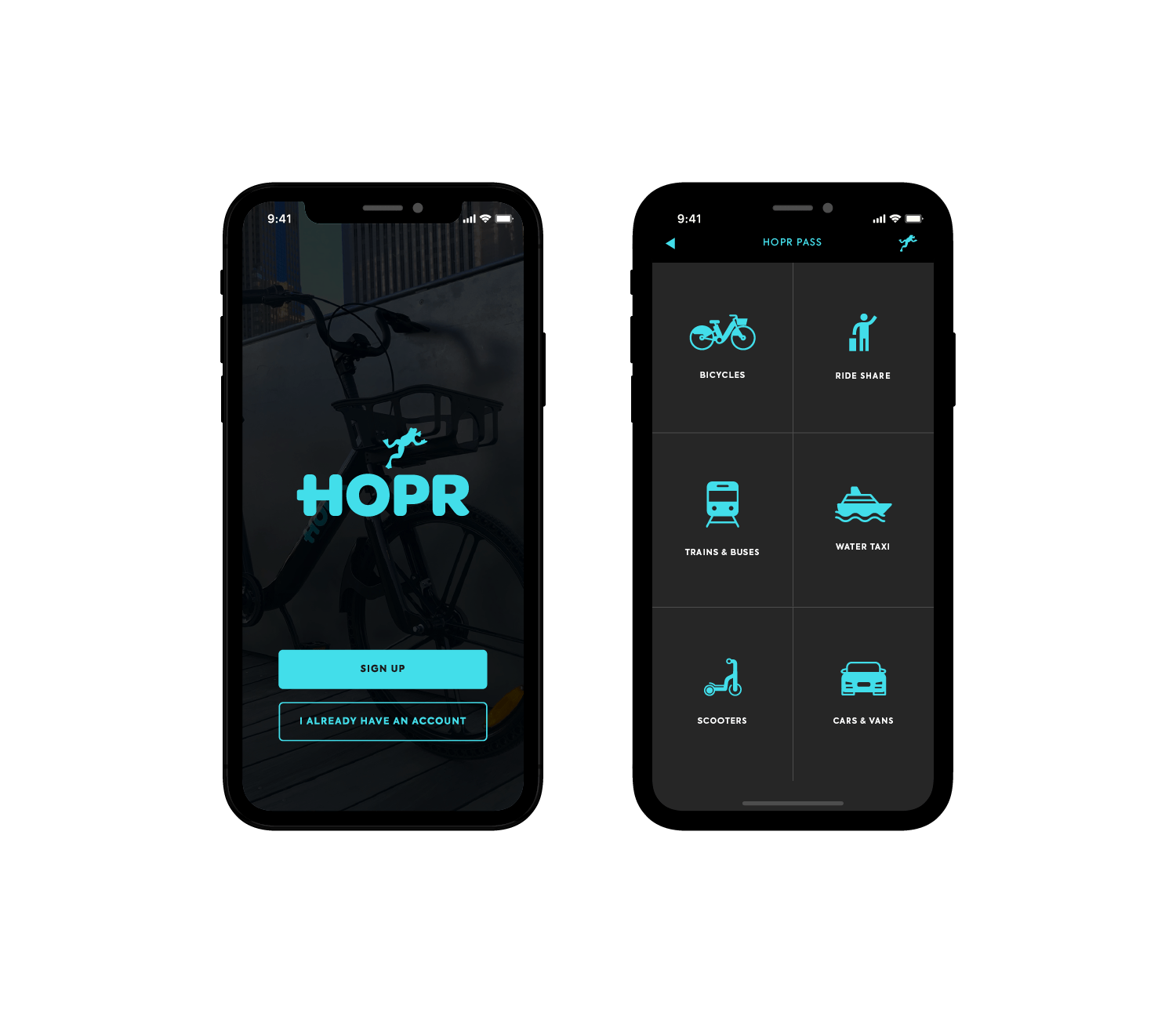 download the HOPR Transit app and sign up
