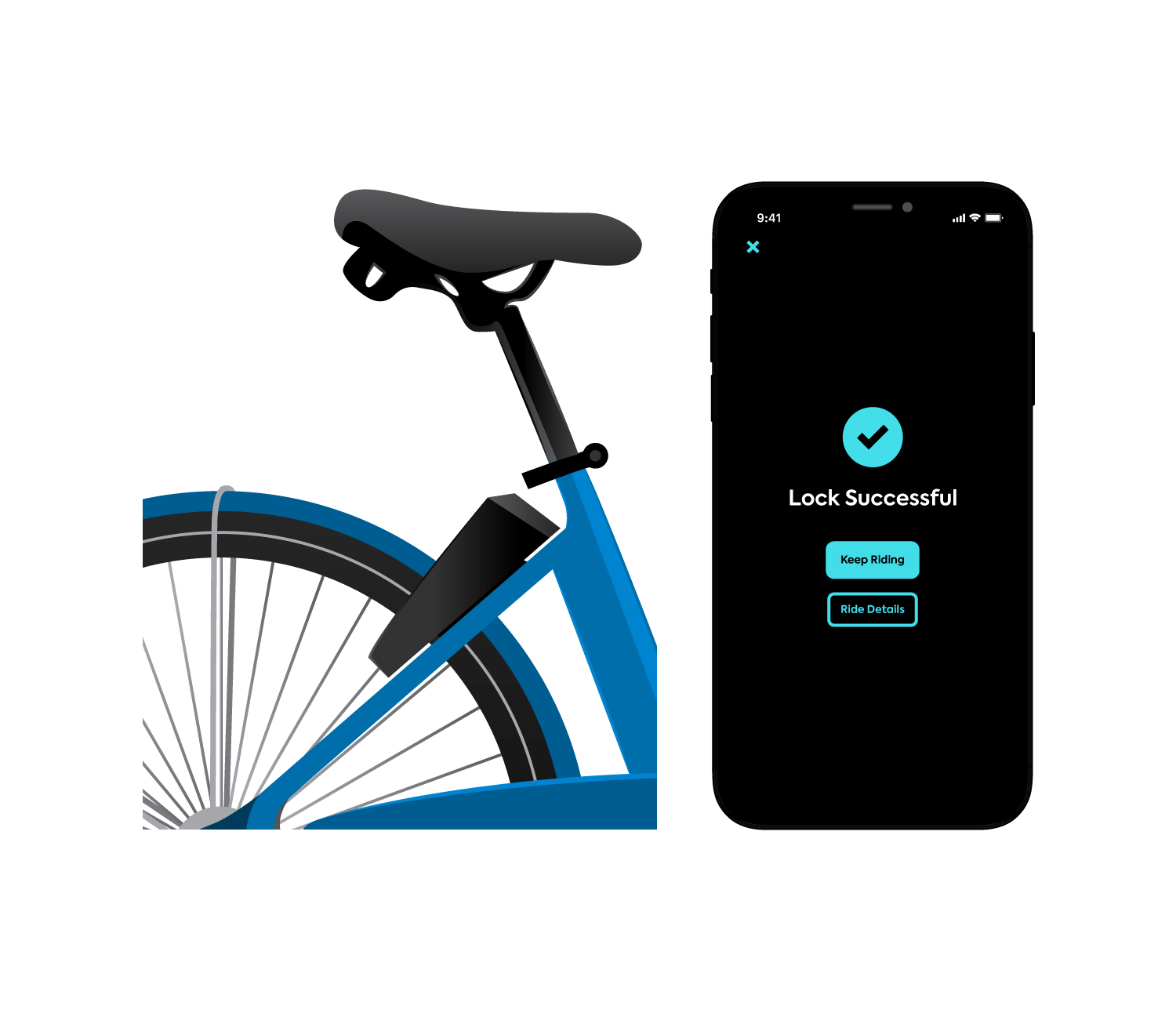 park your VeloGO bike safely and lock it with the HOPR Transit App