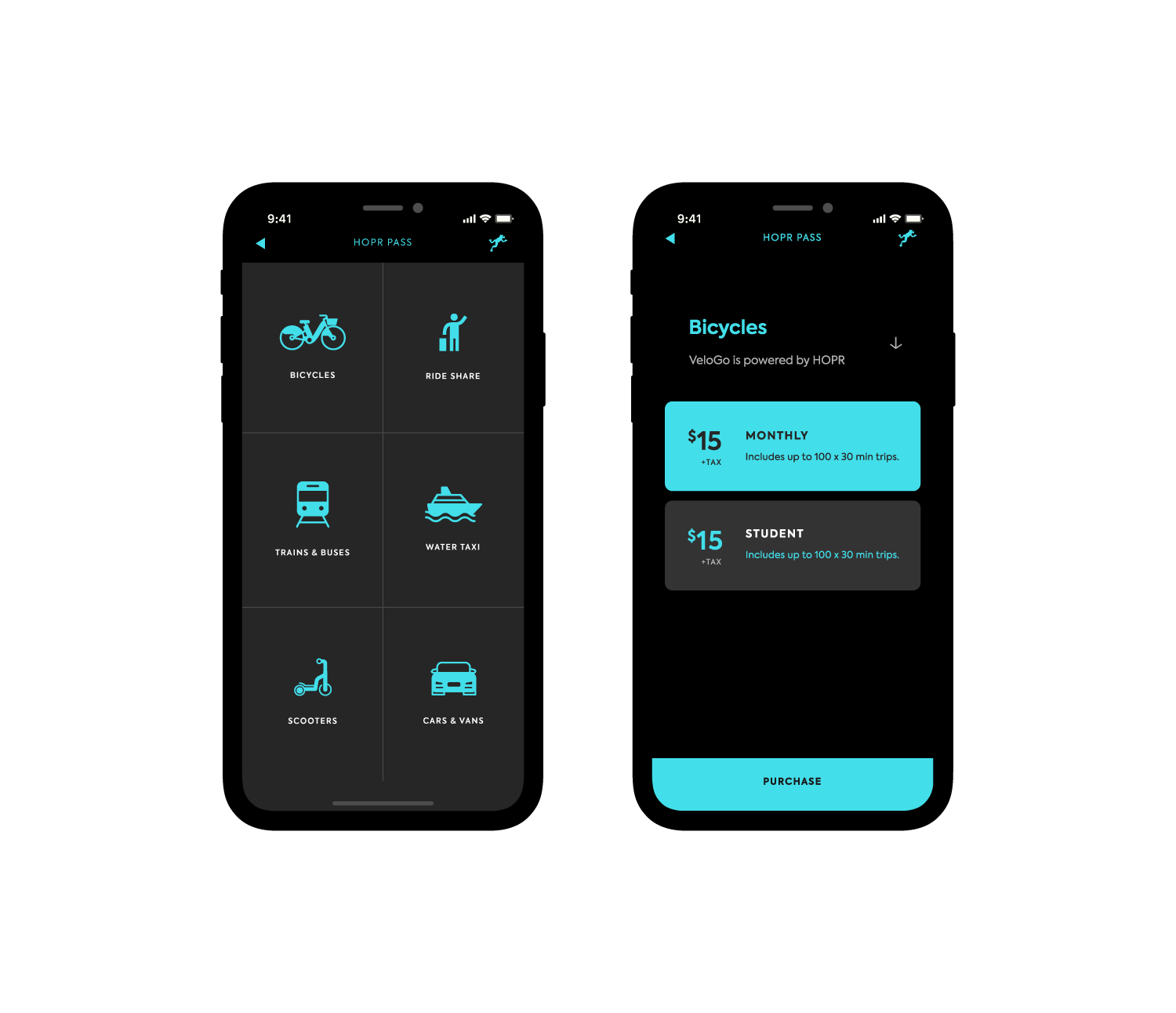 Sign up for VeloGO with the HOPR Transit App