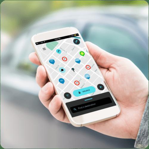 HOPR Transit App in use