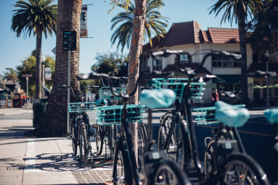 Dockless bike share parking for HOPR Transit App in UCSB