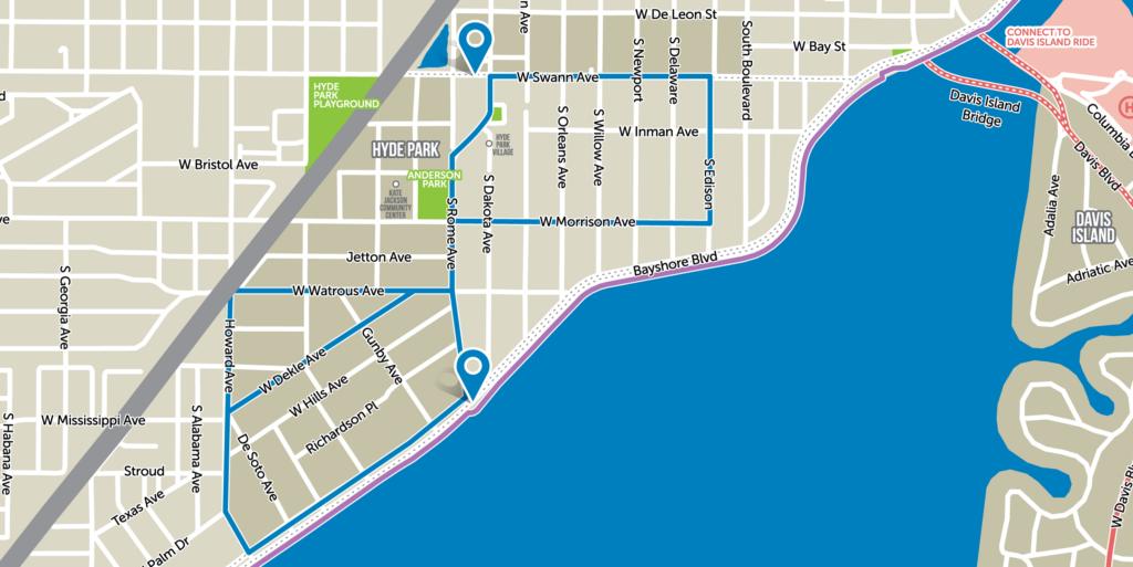 Hyde Park Map Coast Bike Share